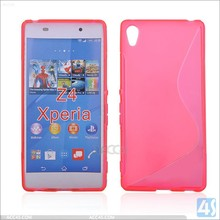 S line soft tpu cover for sony z4, for sony z4 S design cover anti-drop for sony