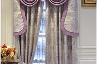 High-grade European-style jacquard blackout customized curtain