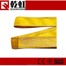 100% polyester WLL 16ton lifting belt 2 inch nylon webbing