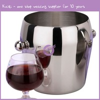 k8193 High quality factory branded mini ice bucket with ice tongs