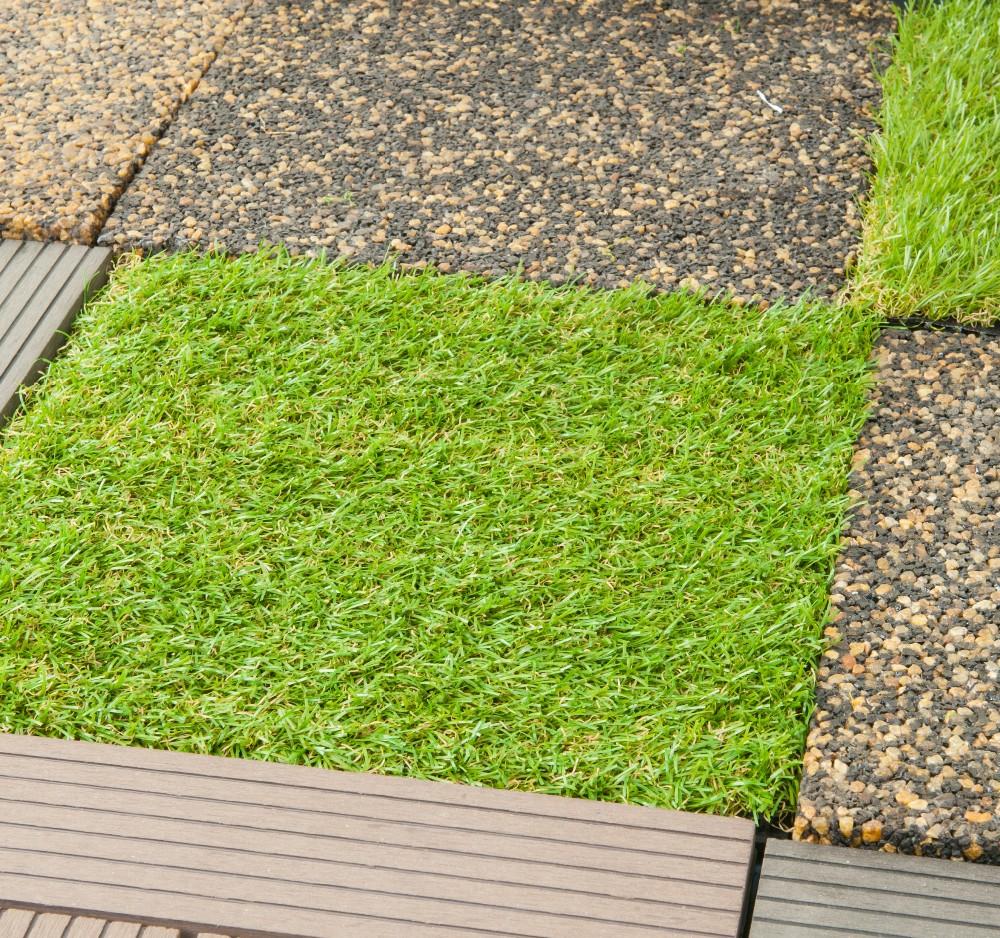Diy Artificial Grass Tiles For Home Garden Decoration