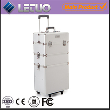 makeup case aluminum trolly rolling case beauty case