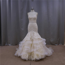 Top quality summer style old lace fabric for wedding dresses