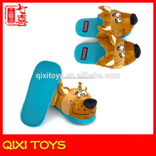 soft sole plush dog indoor slippers plush animal slippers