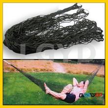 Portable Camping Outdoor Mesh Nylon Hammock - Army Green