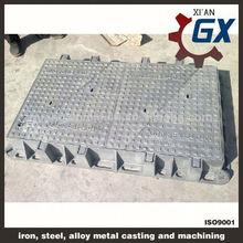bituminous painted BS EN124 standard black bitumen coated iron casting manhole cover