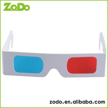 funny fancy bulk cheap paper 3d red cyan glasses for computer games