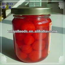 Canned cherries in syrup 820g tins jars plastics in China 2013