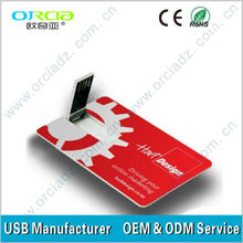 Best gift credit card usb flash drive for promotion sale at 2.80$