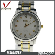 Factory wholesale 2 tone watch Zinc alloy waterproof 2 tone stock watches