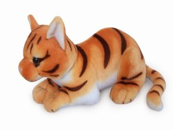 realistic plush toy yellow cat