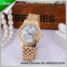 New Arrival Gold/Silver Color Ladies Wrist Butterfly Case Watches