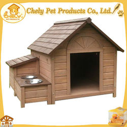 Large Cute Dog House With Feeder For Dogs Cats And Rabbit Pet Cages,Carriers & Houses