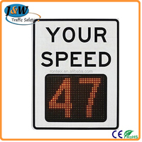 Road Safety Reflective Informative Radar Speed Limit Traffic Signs
