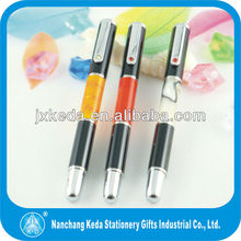 2014 new high quality acrylic metal roller pen with cap