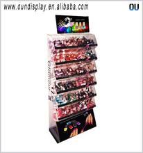 makeup shop acrylic nail polish display rack customized cosmetic display cabinets