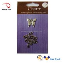 butterfly Pendants custom metal pendant key chain charms pendants