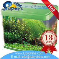 Floating glass coffee table fish aquarium with great price