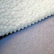 polyester sherpa suede blanket fabric for garment