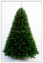 7ft Artifical Snowing Mixed PVC Christmas Tree Decoratived Pinecones/christmas cone tree with tinsels and lights and PVC sheet