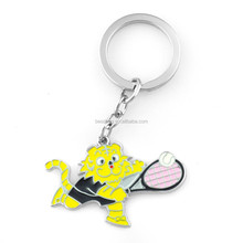 China High quality tiger shaped small keychain clock