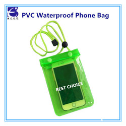 pvc mobile phone waterproof bag for sand beach