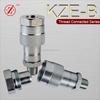 KZE-B brass hydraulic quick release hose coupling