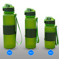foldable water bottle Holiday Gift silicone foldable water bottle
