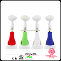 2014 New Design Water Proof Cleared Sonic Electric facial cleaning brush beauty product