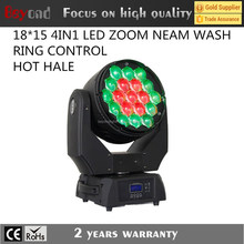 bar light 19*15 w rgbw led moving head light with zoom and ring control effect
