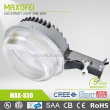 ce bv ccc round aluminum 50w High power Outdoor LED Street Light garden light