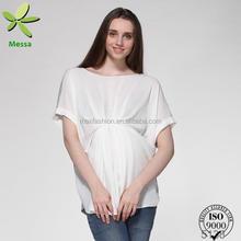 Venta al por mayor del OEM nuevas adquisiciones para mujer blusa de seda