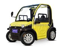 Mini electric car elactric automobile yellow