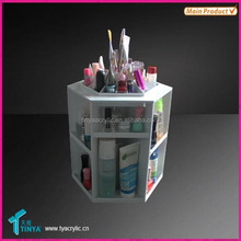 Rotating Acrylic Cosmetic Display Box for Lip Balm Makeup Lip Gloss Display Showcase Plastic Lip Balm Storage Box