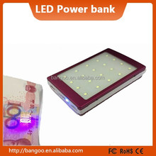 waterproof solar LED power bank hottest power charger with fast shipping DHL