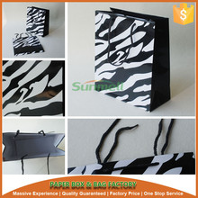 offset printing zebra paper gift shopping bag