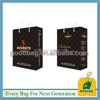 oem paper packaging bag with butterfly tie or ribbon handle
