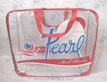 Transparent pvc tote hand laundry bag for ODM/OEM