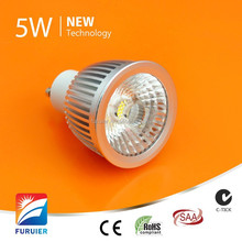 Warm white and cold white residential spotlight 50mm cutout 5watt ac cob led down light