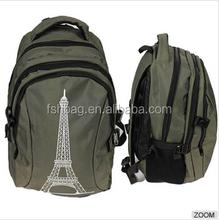 2015 Eiffel Tower print school backpack loptop bag