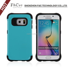 alibaba express hot selling back cover 2in1 tpu pc protective cover case for samsung galaxy s6 edge case