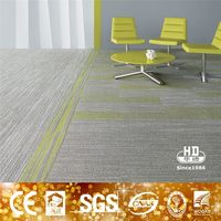 Machine Made Yellow Carpet Tiles