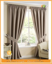 New fashion color pencil pleat readymade curtain with high quality blackout fabric in UK market