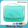 Green 600D womens fashion hanging cosmetic travel bag