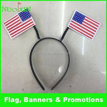 wholesale farbic American flag headband /custom USA flag head hair hoop for decoration