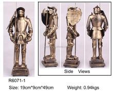metal pewter medieval armor knight statues,pewter alloy armor helmet statue