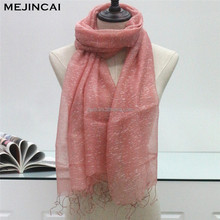 pink 180x70 wash acrylic scarf with tessels