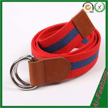 Unisex double D ring canvas belt with wholesales