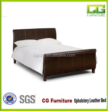 2015 hot sale cheap leather bed Ship type pu bed for living room