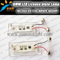 High Power Bright IR LED License Plate For BMW E53 X5 X3 License Plate Lights